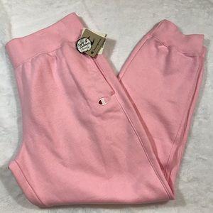 NWT CHAMPION reverse weave pink sweat pants Sz xxl